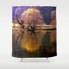 Sea and light Shower Curtain