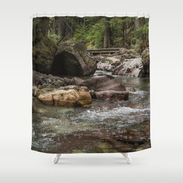 A Forest Fit for Fairies - Glacier NP Shower Curtain