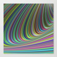 illusion Canvas Prints featuring Illusion by David Zydd - Colorful Mandalas & Abstrac