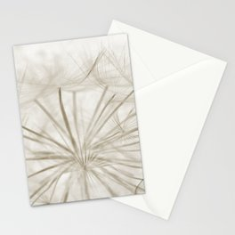 Dandelion Neutral Closeup Stationery Cards