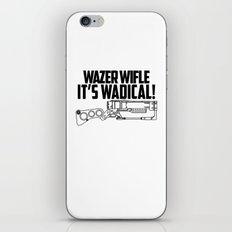 Wazer Wifle Poster iPhone & iPod Skin