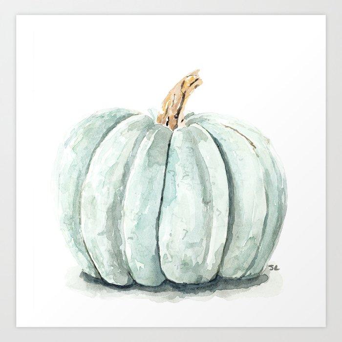 Blue Pumpkin Kunstdrucke