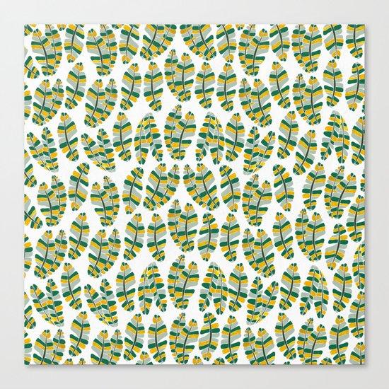 Banana Gold Leaves Canvas Print