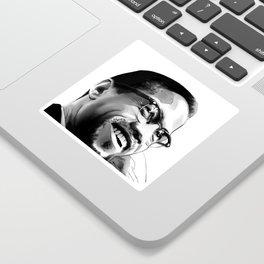 Malcolm Smile by Joaquín Esteban J. Sticker