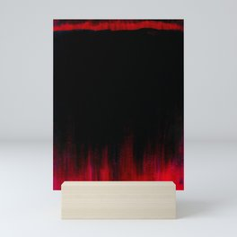 Red and Black Abstract Mini Art Print