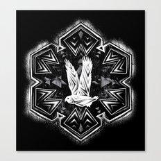 Snowy Owl Flake Canvas Print