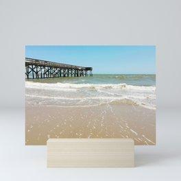 Turquoise Pier Mini Art Print