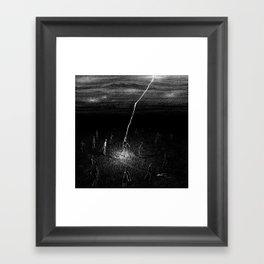 Electric Zombie Framed Art Print