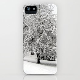 Snow-Covered Apple Tree iPhone Case