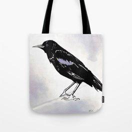 Black Raven Wine Painting Tote Bag