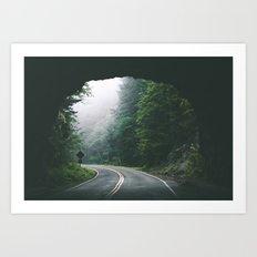 Through The Tunnel Art Print