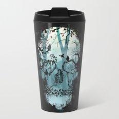 Dark Forest Skull Travel Mug