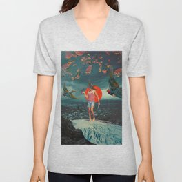 The Boy and the Birds Unisex V-Neck