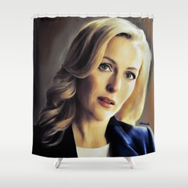 Stella Gibson oli color painting Shower Curtain