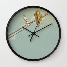 Vintage Clothespin Wall Clock