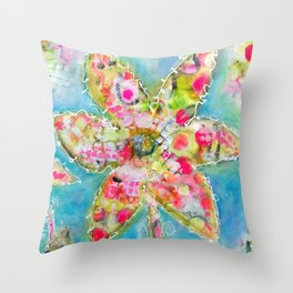 Gumdrops in spring Throw Pillow