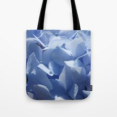 Blue hydrangea in LOVE- Flower floral Tote Bag