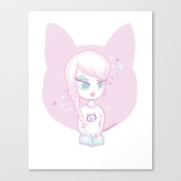 Pincat Canvas Print