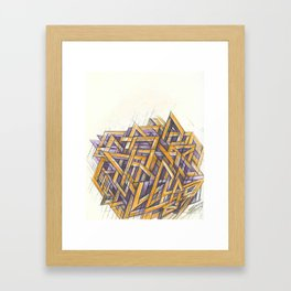 GRIDLOCKED Framed Art Print