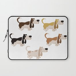 Basset Hound Colors Illustration Laptop Sleeve