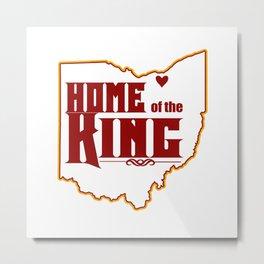 Home of the King (White) Metal Print