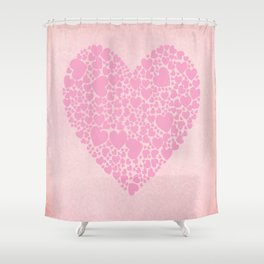 Rose Hearts Shower Curtain