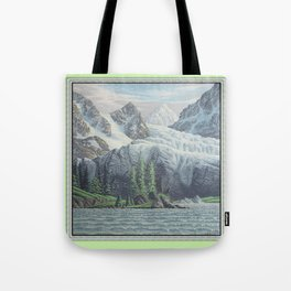 HIDDEN TOWER IN THE INLAND PASSAGE VINTAGE OIL PAINTING Tote Bag