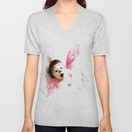 PLAYFUL ANGEL Unisex V-Neck