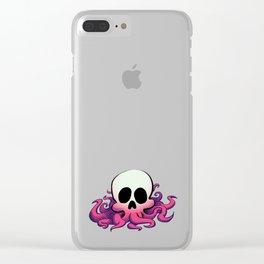 Squid Skull Clear iPhone Case