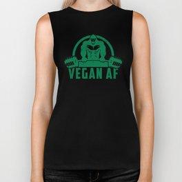 Vegan AF Muscle Gorilla - Funny Workout Quote Gift Biker Tank