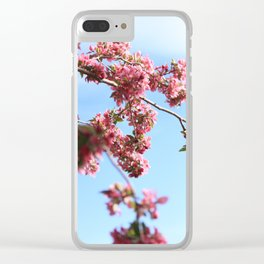 spring is here #society6 #decor #buyart Clear iPhone Case