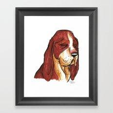 Brush Breeds-Basset Hound Framed Art Print