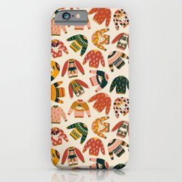 Ugly Christmas Sweaters Vintage Colors iPhone Case