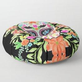 Best sugar skull day of dead dia de los muertos Floor Pillow