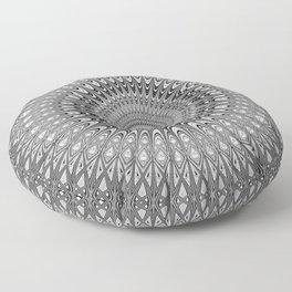 Grey mandala Floor Pillow