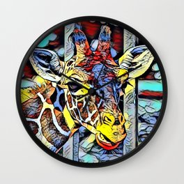 Color Kick - Giraffe Wall Clock