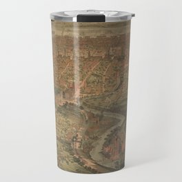 Vintage Pictorial Map of Hartford Connecticut (1864) Travel Mug