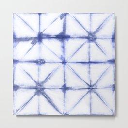 Shibori Folds Metal Print