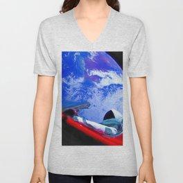 Tesla's Starman Unisex V-Neck