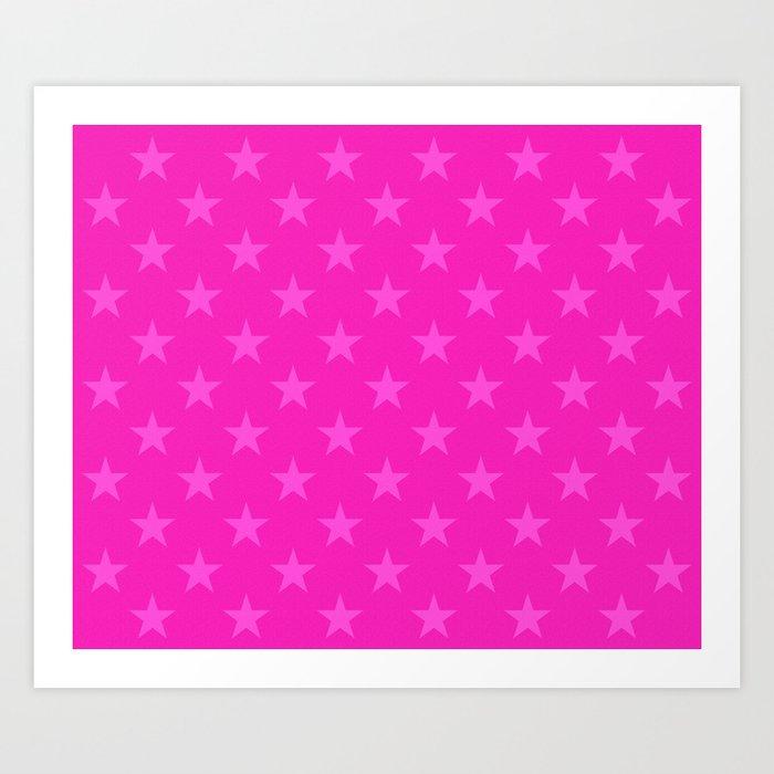 Pink stars pattern Kunstdrucke