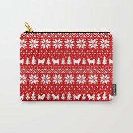 Shih Tzu Silhouettes Christmas Sweater Pattern Carry-All Pouch