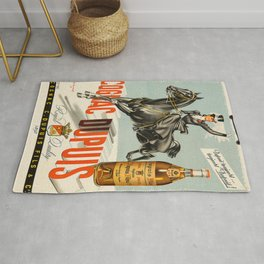 Vintage Cognac Brandy Dupuis Alcoholic Beverage Advertising Poster Rug