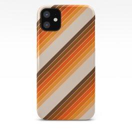 Tan Candy Stripe iPhone Case