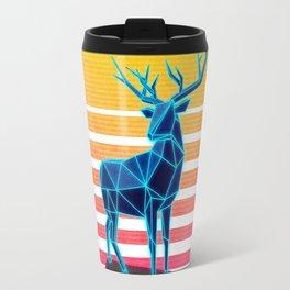 Neon Retro Synthwave Deer Travel Mug