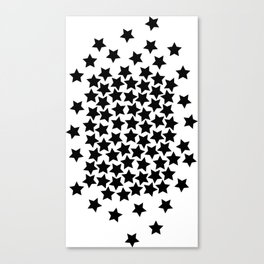 Lots of Black Stars Canvas Print