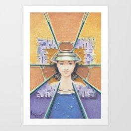 """""""Portrait with chromed Nón Lá"""" Art Print"""