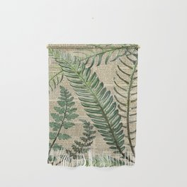 Book Art Page Botanical Leaves Wall Hanging