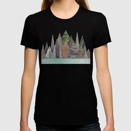 Textured Mountain Range in Minty Waters T-shirt