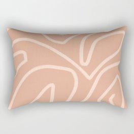 Modern abstract art in peachy brown Rectangular Pillow