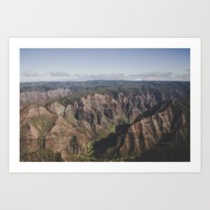 Canyon - Kauai, HI Art Print